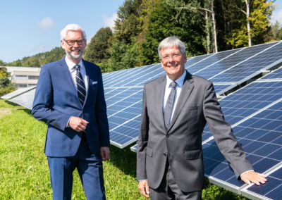 Eröffnung PV-Kraftwerk Ludmannsdorf mit Michael Strugl, stv. CEO VERBUND und LH Peter Kaiser