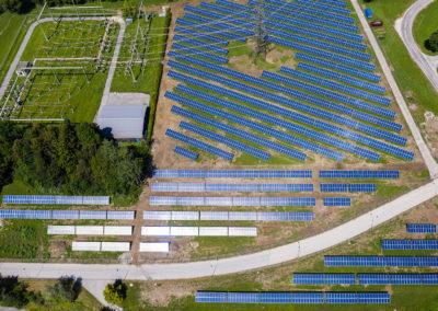 Luftbild PV-Kraftwerk Ludmannsdorf