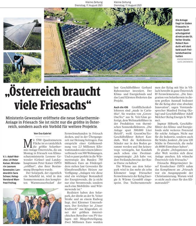 Friesach Solarthermie